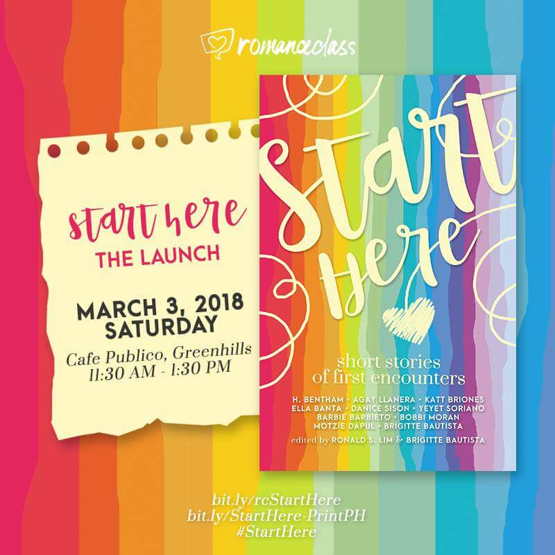 Start Here book launch 3 March 2018 #RomanceClass